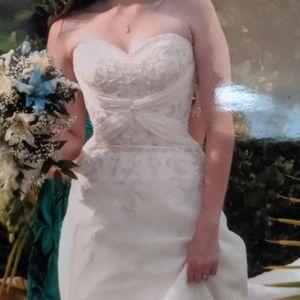 Mori Lee Strapless Wedding Gown Dress